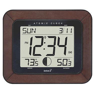 atomic desk clock skyscan atomic clock sam s club