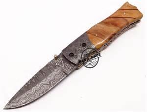 custom made kitchen knives beautiful damascus folding knife custom handmade damascus