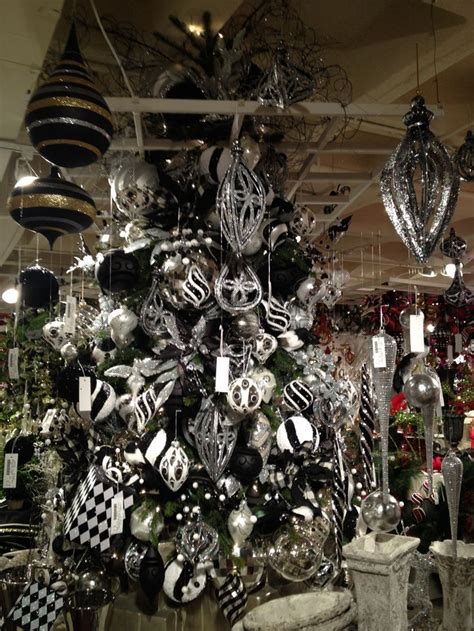 black and white christmas decor black white christmas