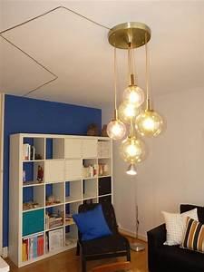 Lustre Salon Moderne : lustre boule au style 39 vintage 39 idem inside elodie moulinier ~ Voncanada.com Idées de Décoration