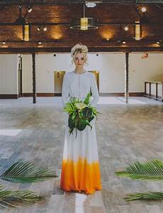 colorful dip dyed wedding dresses are the latest bridal trend With dip dye wedding dress
