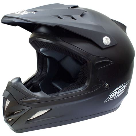 motocross crash helmets shox mx 1 solid off road quad atv motocross pit bike mx