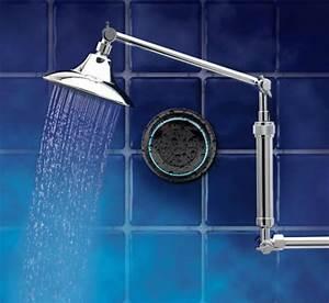 Waterproof shower speakers featuring bluetooth is music to for Best bathroom speakers