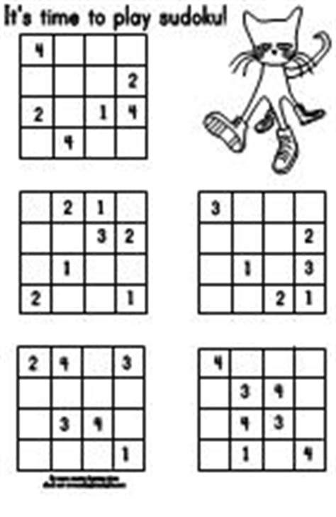making learning fun pete  cat  sudoku