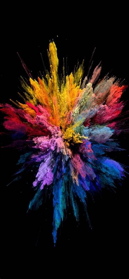 Iphone Wallpapers Explosion Colors Xs Blast Phone