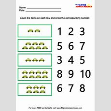 Number Recognition Worksheets 110  The Filipino Homeschooler