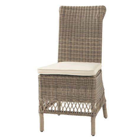 chaise de jardin en résine tressée chaise de jardin en résine tressée st raphaël maisons du monde