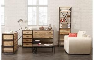 Buffet Industriel Pas Cher : buffet miliboo buffet design industriel industria bois ~ Dallasstarsshop.com Idées de Décoration