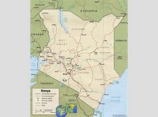 Map of Kenya Nairobi Travel Africa