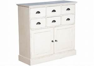 Meuble Avec Serrure : acheter votre meuble 2 portes avec serrures et 6 tiroirs en pin massif chez simeuble ~ Teatrodelosmanantiales.com Idées de Décoration