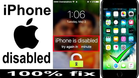 iphone 5s disabled how to unlock disabled iphone password locked iphone 7 6s 3437