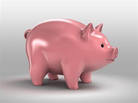 3d Obj Pig Piggy Bank