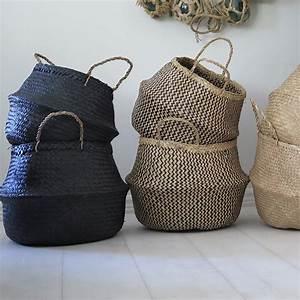 Vietnamese Basket – Noir – Large – Maison & Maison