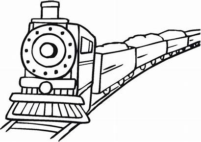 Coloring Pages Transportation Train Printable Engine Transport