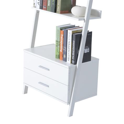 white bookcase with drawers white ladder bookcase with drawers stunning white ladder
