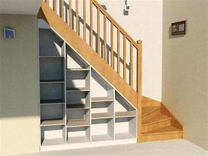 Aménagement Sous Escalier : etag re sous escalier compl te avec socle dessus et fond int gr e sous un escalier quart ~ Preciouscoupons.com Idées de Décoration
