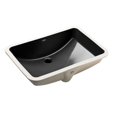 kohler black kitchen sink kohler ladena 23 1 4 quot undermount bathroom sink in black 6679