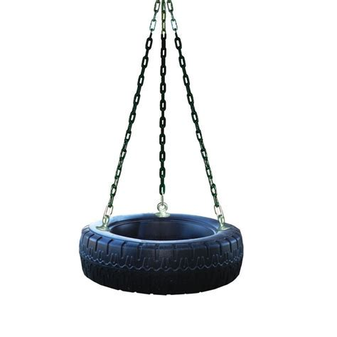 Shop Heartland Captain's Loft Black Tire Swing at Lowes.com
