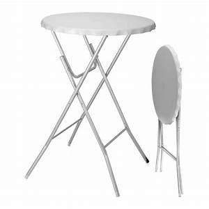 Table Haute Pliable : table haute pliante zahia blanc meuble d 39 appoint eminza ~ Teatrodelosmanantiales.com Idées de Décoration