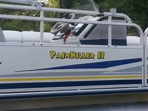 pontoon boat lettering name at boatdecalsbiz With pontoon boat lettering