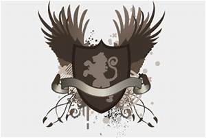 Grunge Vector Shield and Crests PSD File