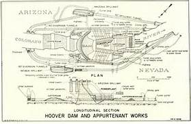 Hoover Dam     Nevada   Arizona border U S A   Hoover Dam Diagram