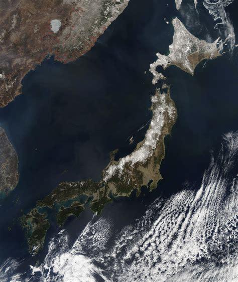 Nasa Nasas Aqua Satellite View Of Cloud Free Japan On