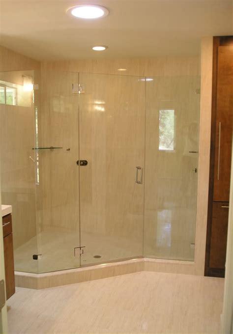 walk  shower enclosure  model home