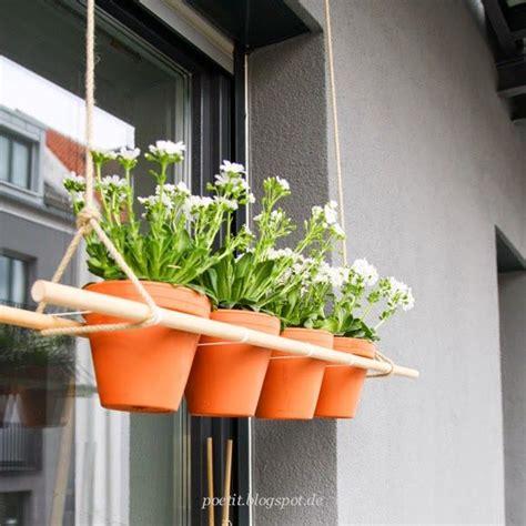 Hängende Blumen Balkon by H 228 Ngende Pflanzen Ein Diy F 252 R Den Balkon Inspired By