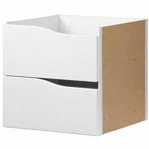 Ikea Regal Schubladen : ikea kallax einsatz mit 2 schubladen wei 33x33 f r expedit kallax regal neu ebay ~ Frokenaadalensverden.com Haus und Dekorationen