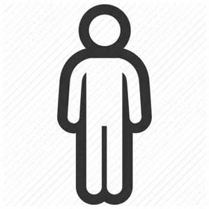 White Transparent Person Icon