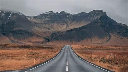 Road Mountains Marking 4k Iceland Uhd Packing