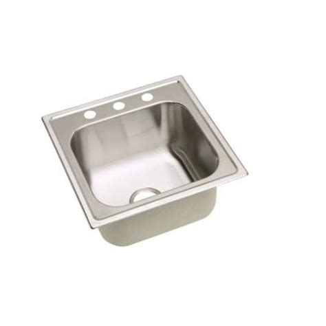 stainless steel laundry room sink elkay signature 20 in x 20 in 3 hole stainless steel top