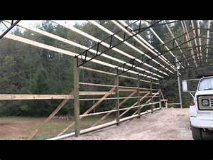steel truss pole barn kits best prices youtube With cheap metal trusses