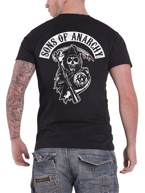 sons of anarchy shirts sons of anarchy t shirt official new mens jax skull outlaw banner soa samcro ebay