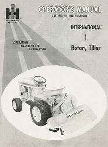 Cub Cadet 1 Rotary Tiller Operator    Setting Up Manual