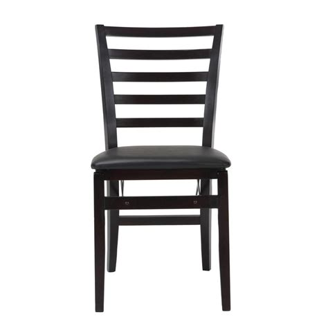 Cosco Folding Chairs Wood by Cosco Contoured Back Espresso Wood Folding Chairs With