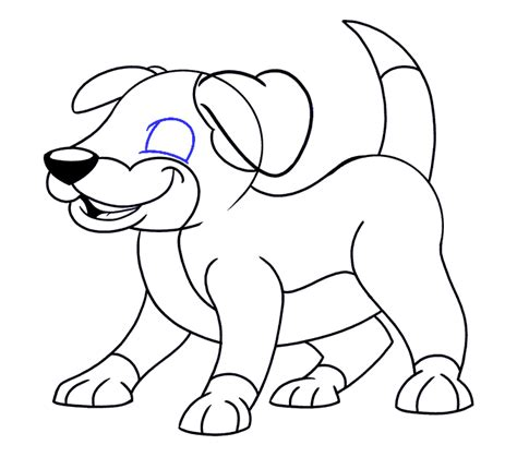 draw  cartoon dog easy drawing guides