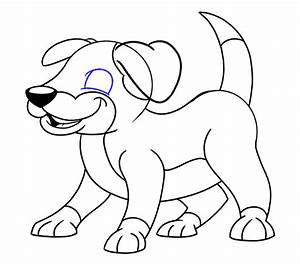 How to draw a Cartoon Dog | Easy Drawing Guides