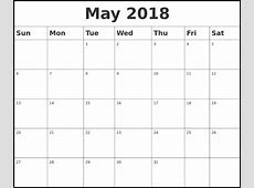May 2018 Calendar Print Out Printable Templates Letter