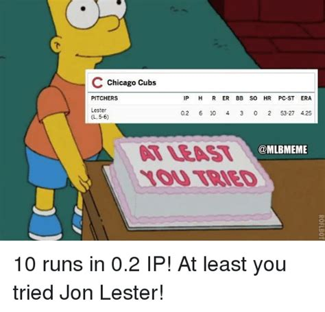 At Least You Tried Meme - 25 best memes about chicago cubs chicago cubs memes