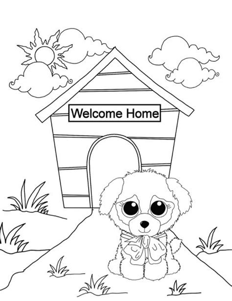 Minimoomis Kleurplaat by Free Beanie Boo Coloring Pages Print Cats
