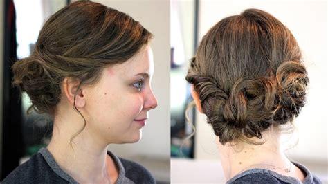 easy updo  mediumshoulder length hair youtube