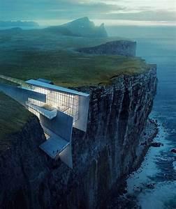 #architecture_hunter Cliff Retreat: breathtaking render by ...