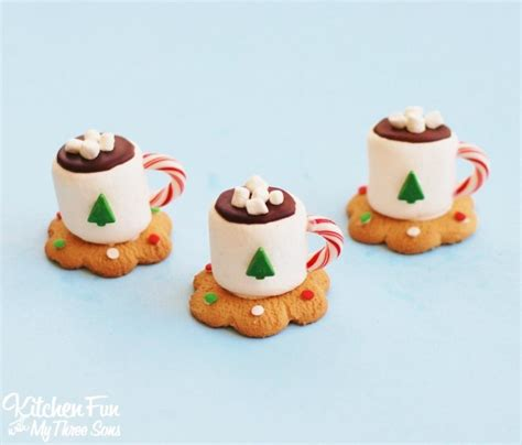 hot cocoa marshmallow cookie cups fun family crafts