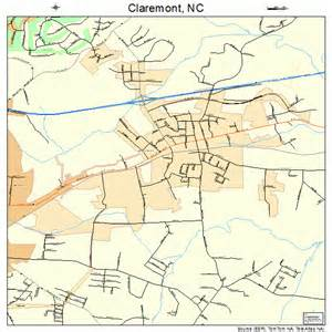 Claremont NC Map of North Carolina