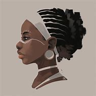 African American Women Drawings