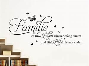 Wandtattoo Sprüche Familie : wandtattoo spr che leben prinsenvanderaa ~ Frokenaadalensverden.com Haus und Dekorationen