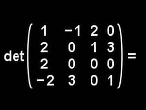 Determinante 4x4 Matrix Berechnen : determinante berechnen matrizenrechnung video 3 youtube ~ Themetempest.com Abrechnung