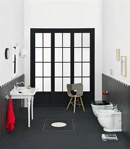 Objet Deco Salle De Bain : la salle de bain r tro en noir et blanc 15 exemples ~ Teatrodelosmanantiales.com Idées de Décoration